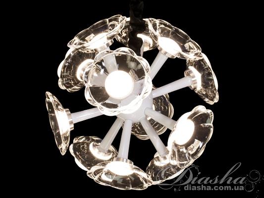 Современная светодиодная люстра с дополнительной подсветкойСветодиодные люстры, Потолочные, Поступление 18-10-2015