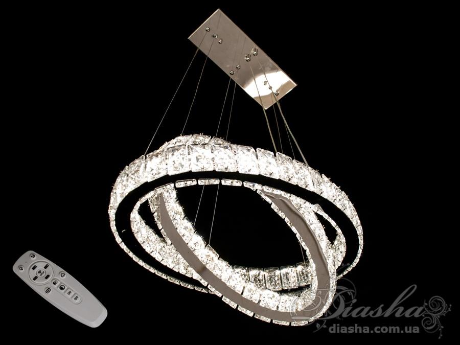 Хрустальная светодиодная люстра-подвес, 65WСветодиодные люстры, Люстры LED, Подвесы LED, Новинки