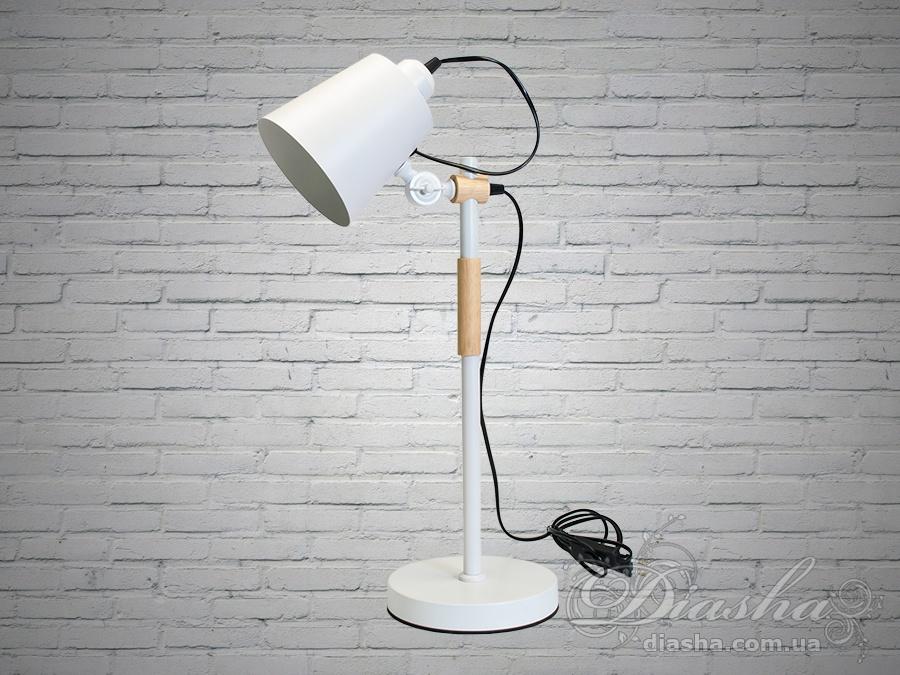 Стильная настольная лампа с деревянным каркасомНастольные лампы, Торшеры