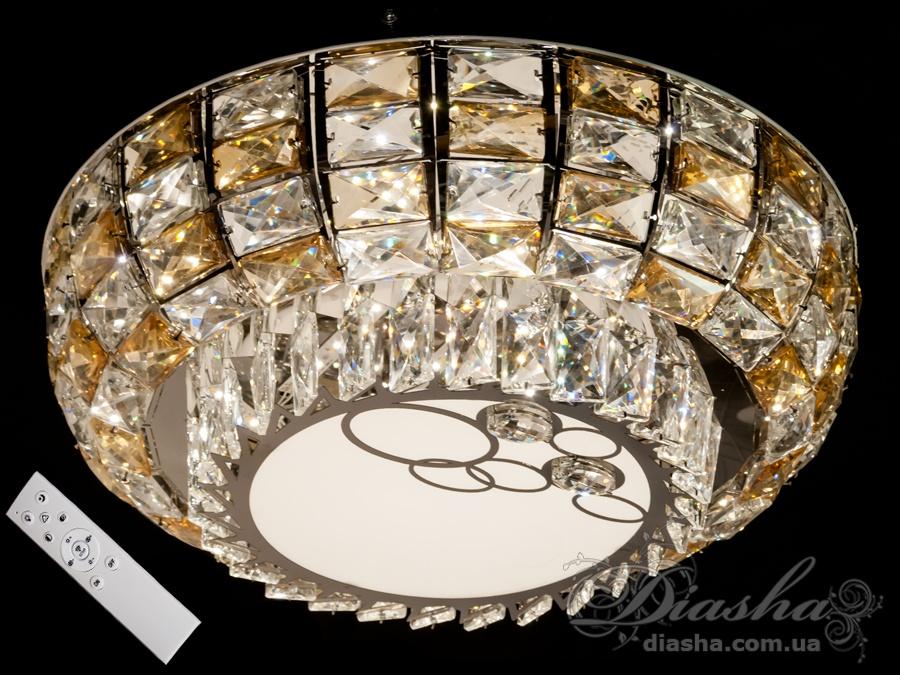 Светодиодные люстры «торт» с димером, 90WПотолочные люстры, Люстра