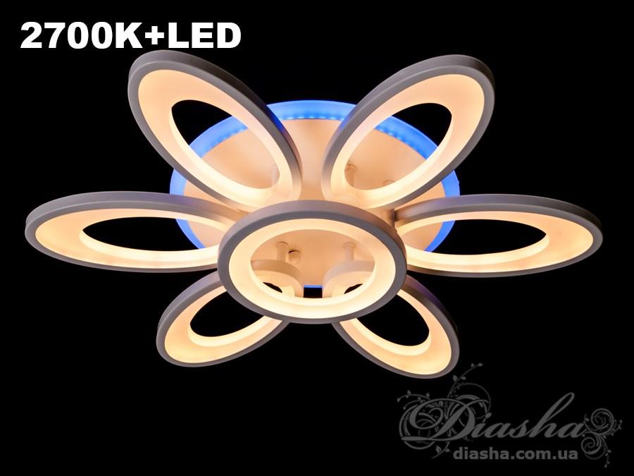 Сверхъяркая светодиодная люстра с цветной подсветкой 110WПотолочные люстры, Светодиодные люстры, Люстры LED, Потолочные, Новинки