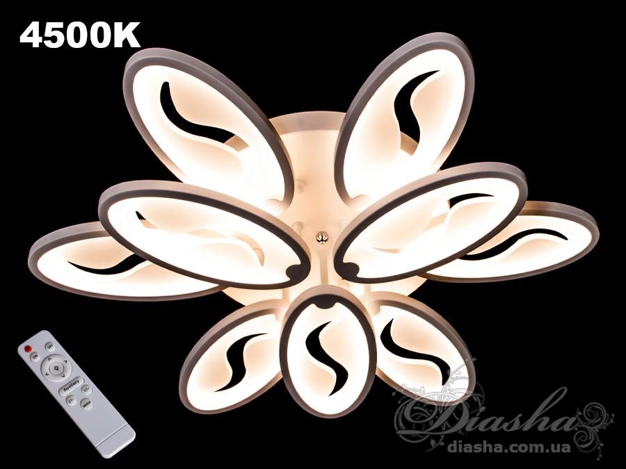 Потолочная LED-люстра с диммером, 140WПотолочные люстры, Светодиодные люстры, Люстры LED, Потолочные