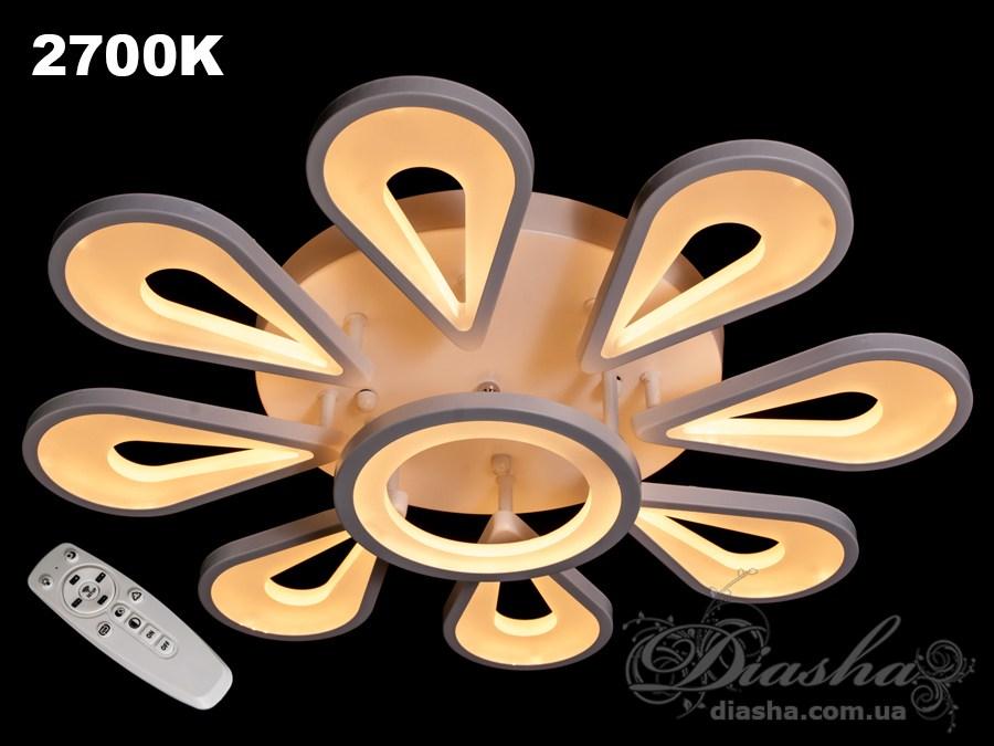 Потолочная LED-люстра с диммером, 140WПотолочные люстры, Светодиодные люстры, Люстры LED, Потолочные, Новинки