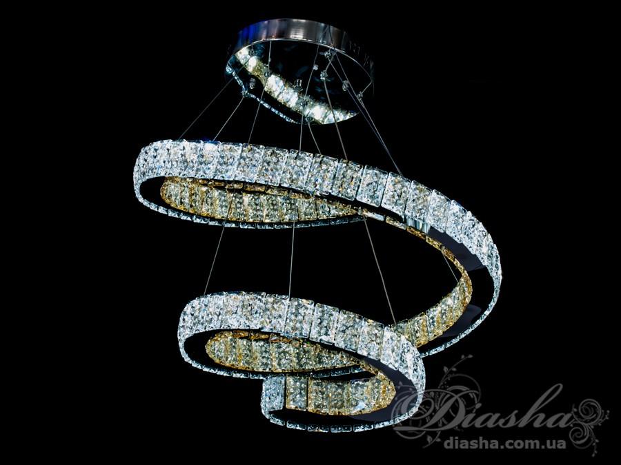 Хрустальная светодиодная люстра-подвес, 80WСветодиодные люстры, Люстры LED, Подвесы LED