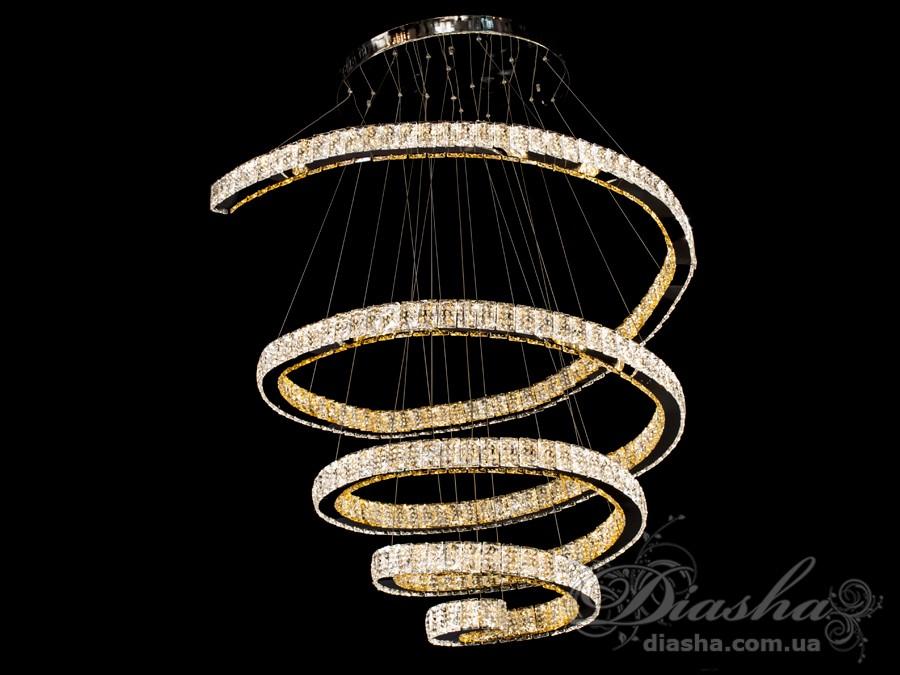 Хрустальная светодиодная люстра-подвес, 210WСветодиодные люстры, Люстры LED, Подвесы LED, Новинки