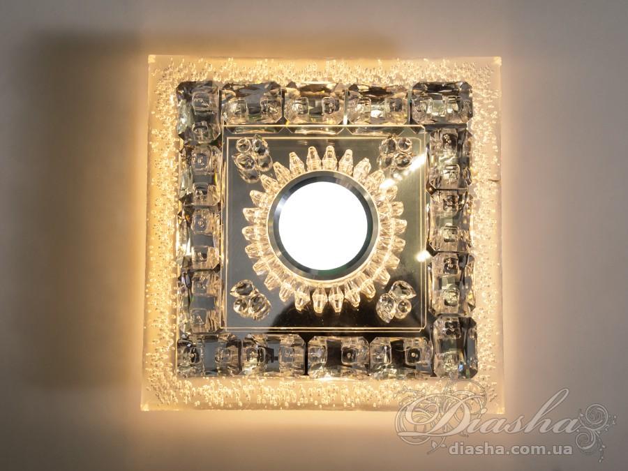 Хрустальный светодиодный точечный светильникВрезка, Точечные светильники, Хрустальные точечные светильники