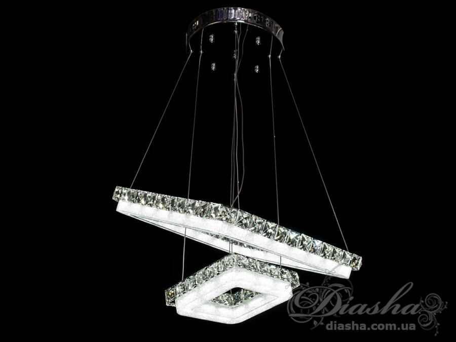 Хрустальная светодиодная люстра-подвесСветодиодные люстры, Люстры LED, Подвесы LED
