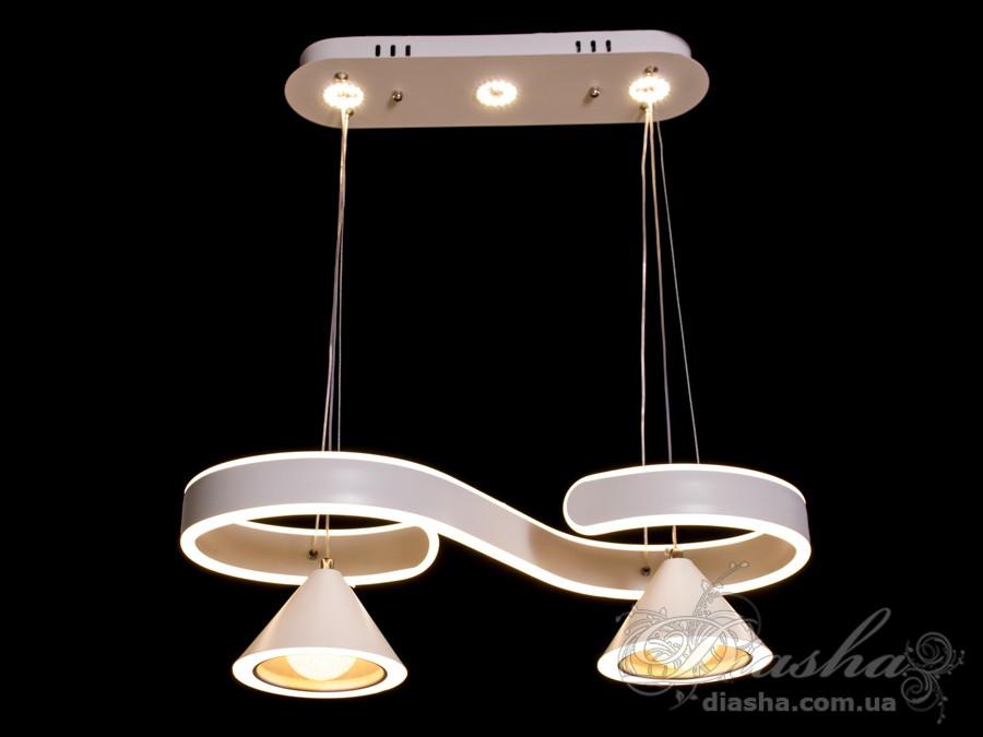 Перед Вами совсем новое и необычное исполнение плафонов, обрамляющих LED лампы. Такая люстра запросто подойдет под любой интерьер – классический, современный и даже в стиле «хай-тек». Идеально подходит для подсветки рабочей и обеденной поверхности. Пульт в комплект не входит.