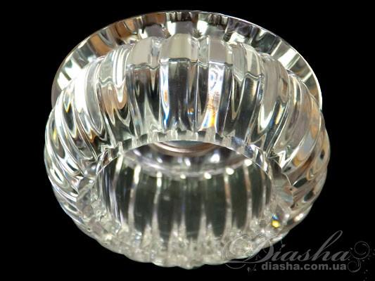 Хрустальный точечный светильник<BR>Врезка,  Точечные светильники, Хрустальные точечные светильники
