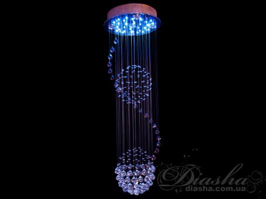 Торговая марка Диаша представляет новинку в своем модельном ряду - галогеновые люстры с хрустальными подвесками. Благодаря разнообразию размеров новые каскады производящиеся под торговой маркой