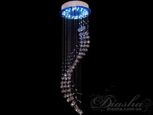 Галогеновая люстра со светодиодной подсветкой