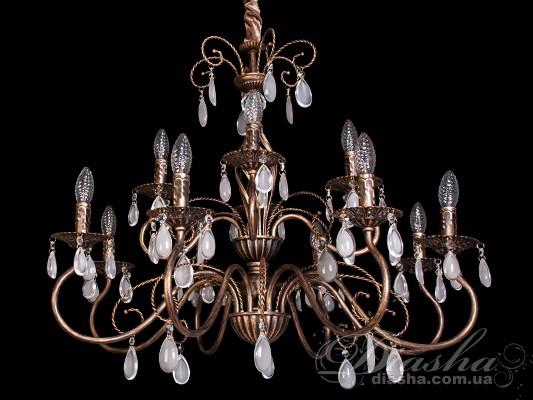 Классическая люстра с изящным резным декоромЛюстры с абажурами, Люстры классика