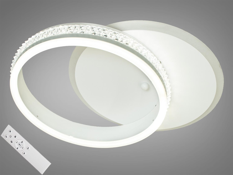 Перед Вами совсем новое и необычное исполнение плафонов, обрамляющих LED лампы. Такая люстра запросто подойдет под любой интерьер – классический, современный и даже в стиле «хай-тек». Большая площадь рассеивателей дарит мягкий и равномерный свет по всему помещению.Эффект мягкого освещения очень важен в помещениях где часто находятся дети! Еще одним неоспаримым преимуществом этой светодиодной люстры для детской комнаты является отсутствие стеклянных элементов. В комплекте с люстрой идёт самый современный тип пульта с электронным диммером и регулятором цвета. С пульта можно включить один из предустановленных режимов освещения - тёплый свет, холодный свет, нейтральный; включить режим