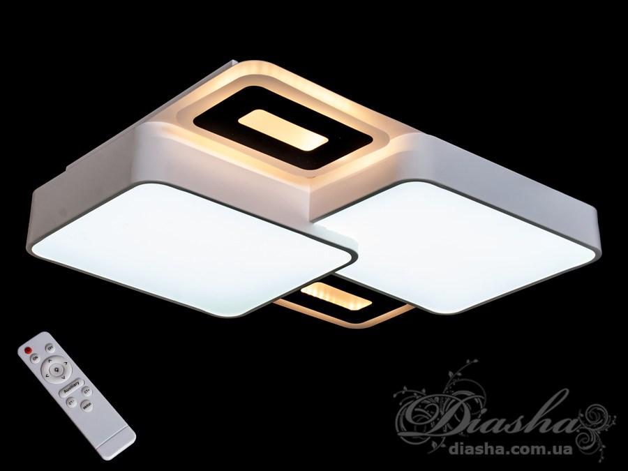 Светильник с регулируемым цветом свечения, 115ВтПотолочные люстры, Светодиодные люстры, светодиодные панели, Люстры LED