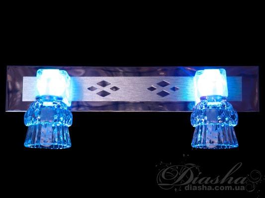 Ярко, насыщенно, эффектно – вот какие качества присущи данной серии светильников направленного света. Представленные здесь светильники являются уникальным решением для акцентной (элементной) подсветки в интерьере – это не только подсветка зеркал, но и картин, и стенных ниш, и особых деталей интерьера. Есть еще одна отличительная особенность.В данной серии все светильники оснащены уникальными миниатюрными энергосберегающими лампами, которые при потребляемой мощности 3-5Вт светят как 20-ти ваттная галогенка.