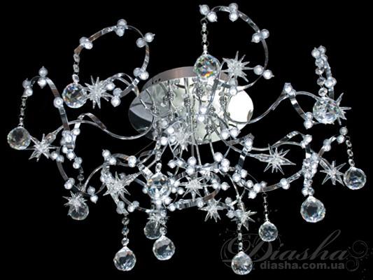 Галогенная люстра со светодиодной подсветкойГалогеновые люстры, Модерн, Светодиодные