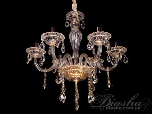 Хрустальная люстра с эксклюзивной подсветкойЛюстры классика, Хрустальные люстры
