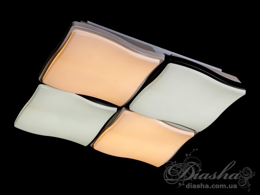 Светильник с регулируемым цветом свечения, 100ВтПотолочные люстры, Светодиодные люстры, светодиодные панели, Люстры LED, Новинки
