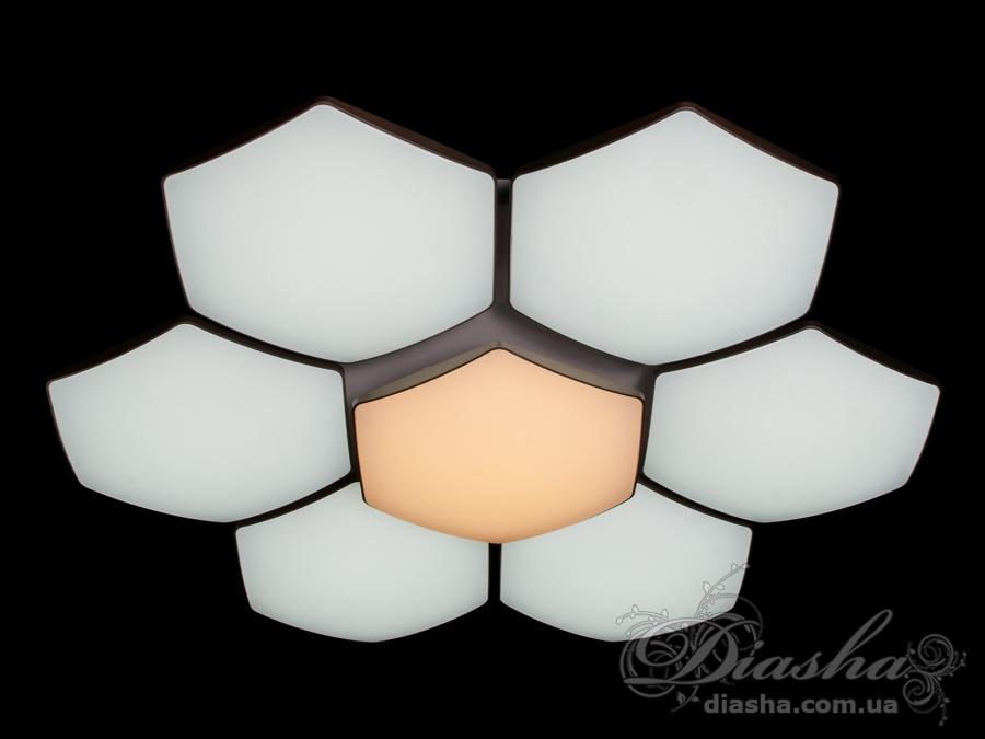 Светильник с регулируемым цветом свечения, 155ВтПотолочные люстры, Светодиодные люстры, светодиодные панели, Люстры LED