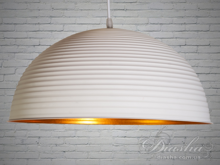 Бело-золотой винтажный светильник-подвесЛюстры кухонные, Подвесы, Минимализм, Винтаж