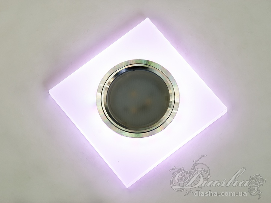 Акриловые точечные светильники с розовой подсветкойВрезка, Точечные светильники, Точечные светильники MR-16