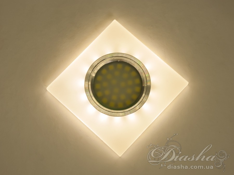 Акриловый точечный светильник со встроенной LED подсветкойВрезка, Точечные светильники, Точечные светильники MR-16, Новинки
