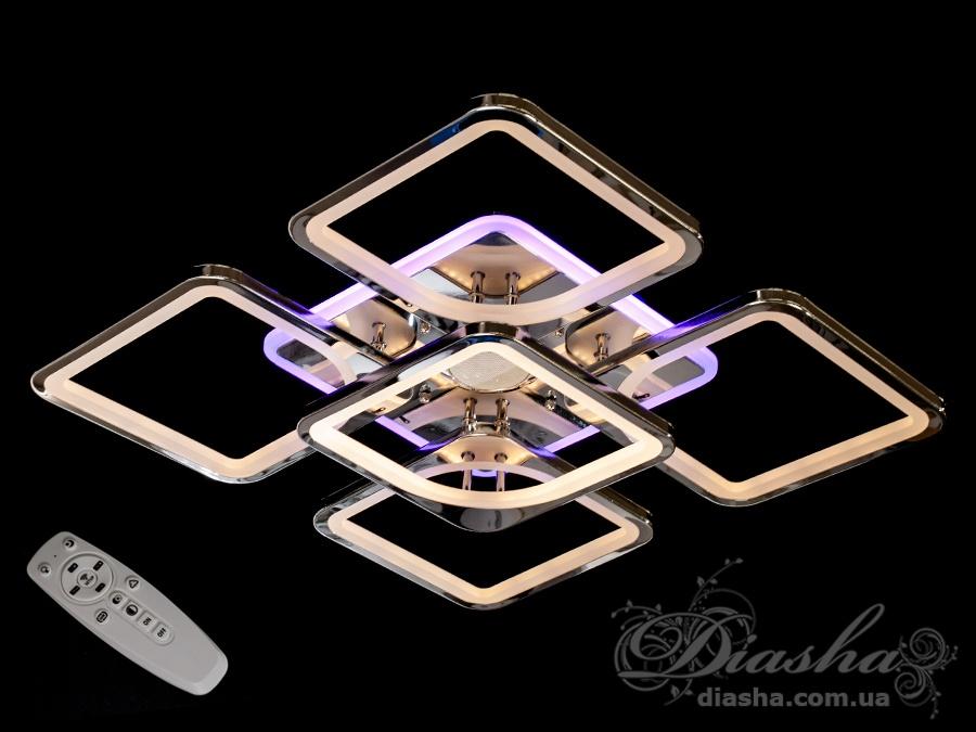 Потолочная люстра с диммером, подсветкой и MP3, 155WСерия