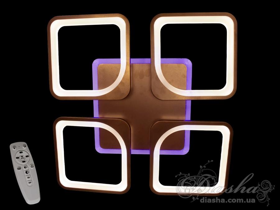 Потолочная LED-люстра с диммером и подсветкой, 110WПотолочные люстры, Светодиодные люстры, Люстры LED, Потолочные, Новинки