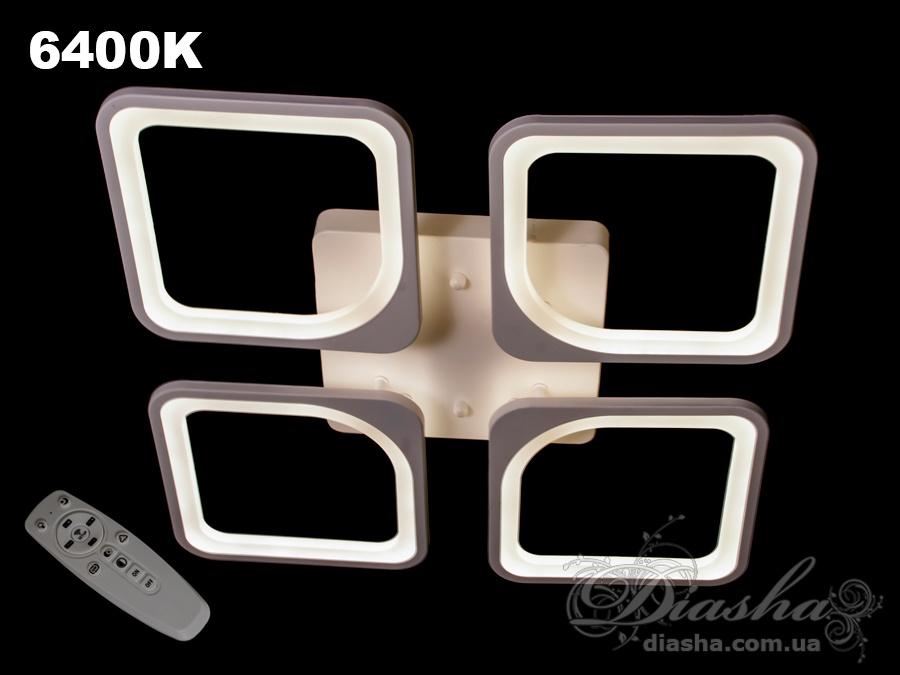 Потолочная LED-люстра с диммером, 110WПотолочные люстры, Светодиодные люстры, Люстры LED, Потолочные