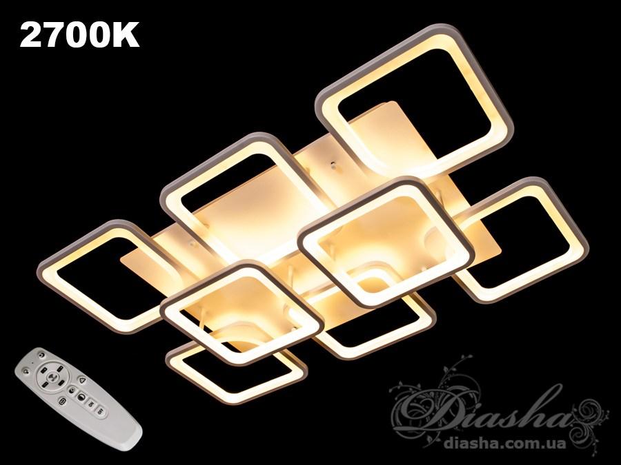 Потолочная LED-люстра с диммером, 180WПотолочные люстры, Светодиодные люстры, Люстры LED, Потолочные, Новинки