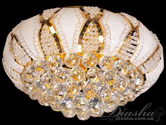 Хрустальная люстра со светодиодной подсветкой<BR>Хрустальные потолочные люстры, Люстры классика, Хрустальные люстры, Потолочные светильники
