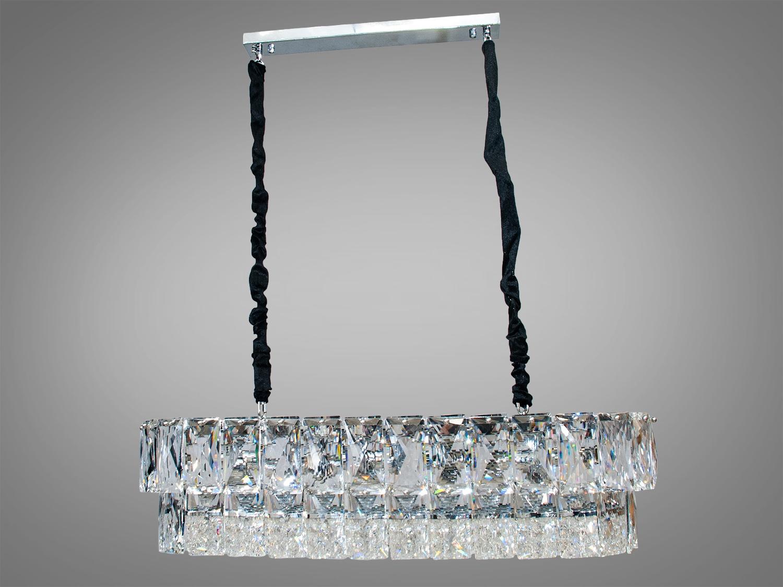 Новые эксклюзивные хрустальные люстры представленные на нашем сайте готовы озарить своим блеском квартиры Украинцев. Мы рады представить коллекцию хрустальных люстр под классическую лампу или экономку которые идеально подойдут для небольших комнат, и даже для низких потолков!!! Хрустальная люстра под обычную лампочку с цоколем Е14. Использовать вытянутую низкорасположенную люстру над обеденным столом давно стало неписаным правилом дизайна интерьера. Пропорции овальных люстр идеально гармонируют с большими обеденными столами. А блеск сотен хрустальных подвесок сделает неотразимой сервировку званого ужина. Люстра специально расчитана так, что максимум яркого света попадёт на стол, а остальное пространство помещения наполнится мягким светом рассеяным хрустальными подвесками.  Внимание!!! Вес люстры более 10кг.