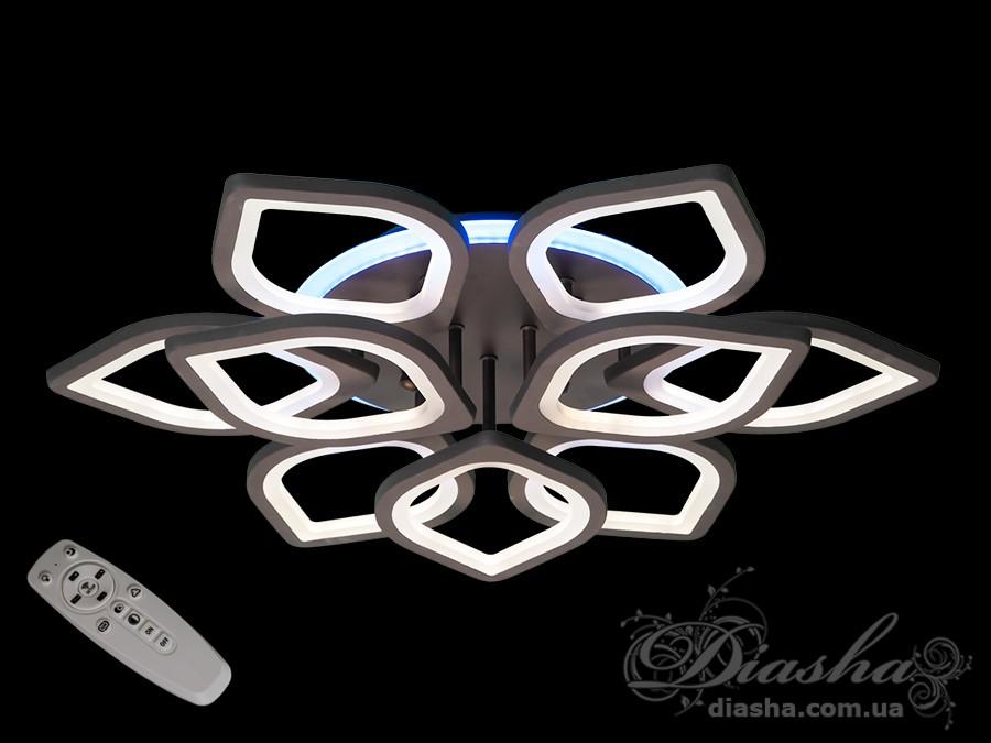Потолочная LED-люстра с диммером и подсветкой, 170WПотолочные люстры, Светодиодные люстры, Люстры LED, Потолочные, Новинки