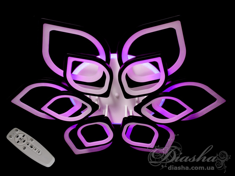 Потолочная LED-люстра с диммером и подсветкой, 260WПотолочные люстры, Светодиодные люстры, Люстры LED, Потолочные, Новинки