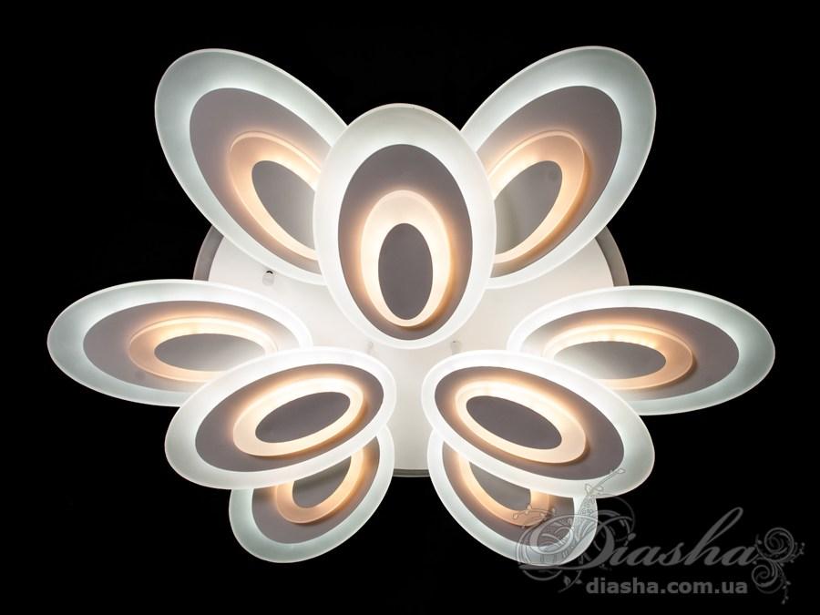 Сверхъяркая светодиодная люстра с цветной подсветкой 240WПотолочные люстры, Светодиодные люстры, Люстры LED, Потолочные