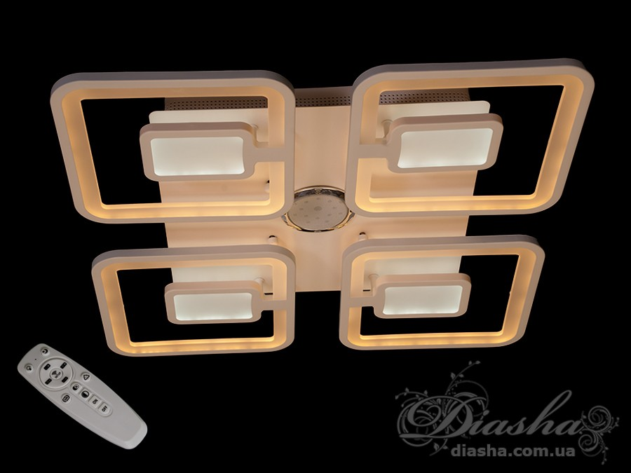 Потолочная LED-люстра с диммером и подсветкой, 160WПотолочные люстры, Светодиодные люстры, Люстры LED, Потолочные, Новинки