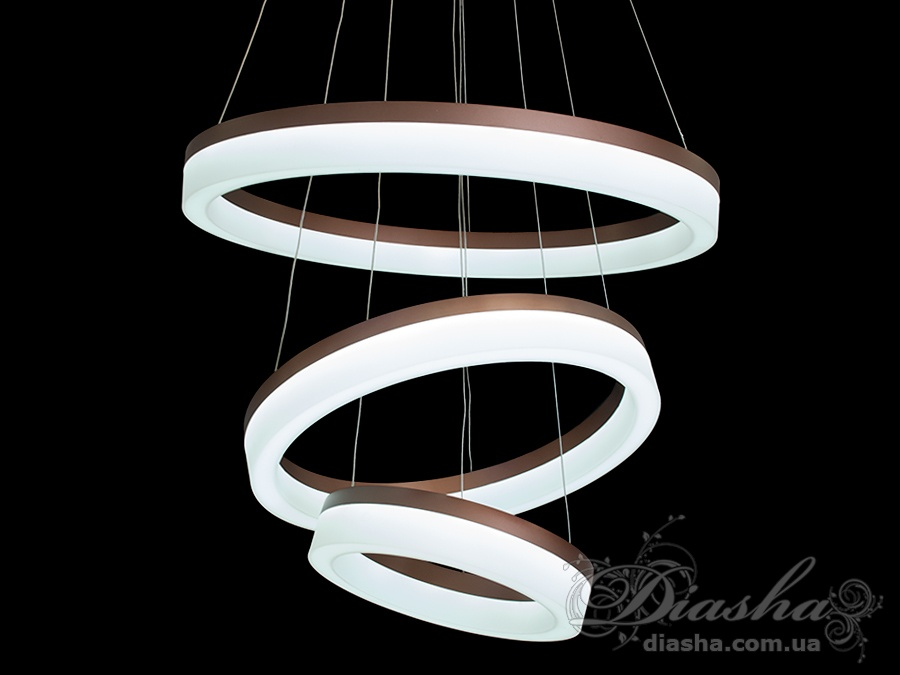 Современная светодиодная люстра с диммером, 130WСветодиодные люстры, Люстры LED, Подвесы LED, Новинки