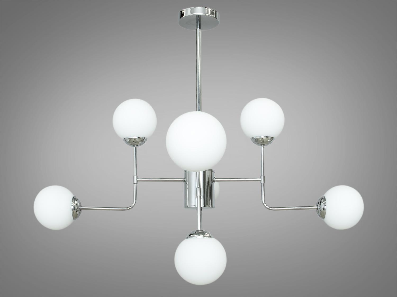 Лаконичный и в тоже время очень стильный дизайн этой люстры на 8 ламп в стиле лофт подойдет для ценителей минимализма и свободы мысли в интерьере. Стиль «Лофт» сейчас очень популярен, его любят как творческие личности, так и весьма практичные люди, предпочитающие комфорт и простоту в интерьере. Люстры в стиле «лофт» идеально впишутся в современные дома, квартиры, кафе, арт-пространства, коворкинги, квеструмы. За счет регулировки шнура можно подобрать оптимальную высоту светильника. В отличие от привычной люстры-молекулы, эта люстра укомплектована более изящными небольшими матовыми плафонами. Люстра специально разработана под светодиодные лампы стандарта G45 с цоколем Е27.