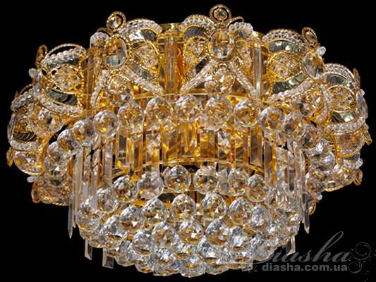 Хрустальная люстра со светодиодной подсветкойЛюстры классика, Хрустальные люстры, Потолочные светильники, АКЦИЯ!!!