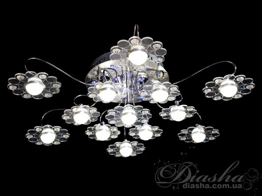Светодиодная люстра с дополнительной подсветкойПотолочные люстры, Светодиодные люстры, Люстры LED, Детские, Потолочные