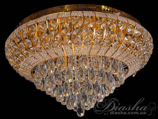 Хрустальная люстра со светодиодной подсветкойЛюстры классика, Хрустальные люстры, Потолочные светильники