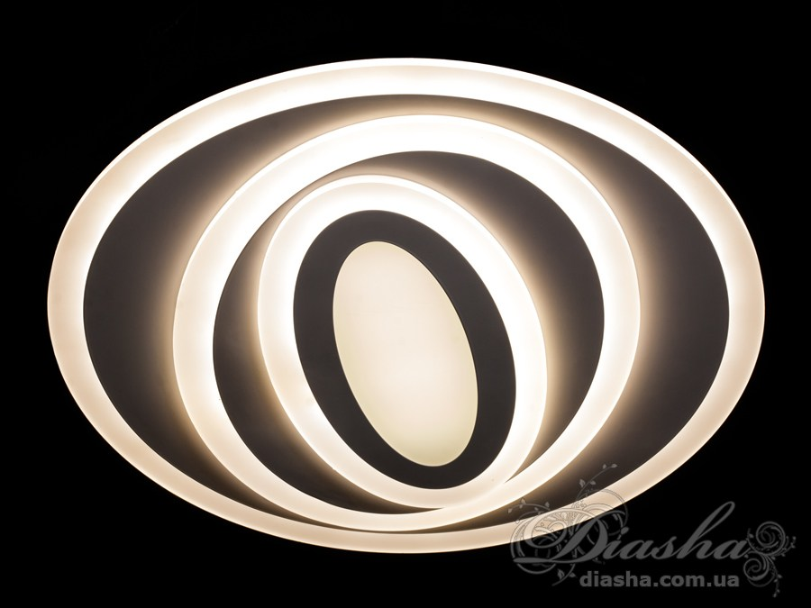 Перед Вами совсем новое и необычное исполнение плафонов, обрамляющих LED лампы. Такая люстра запросто подойдет под любой интерьер – классический, современный и даже в стиле «хай-тек». Рассеиватель выполненный из литого акрила равномерно распределяет свет по помещению. При этом сам светится очень мягко. Вы можете смотреть на включенную люстру и не бояться словить