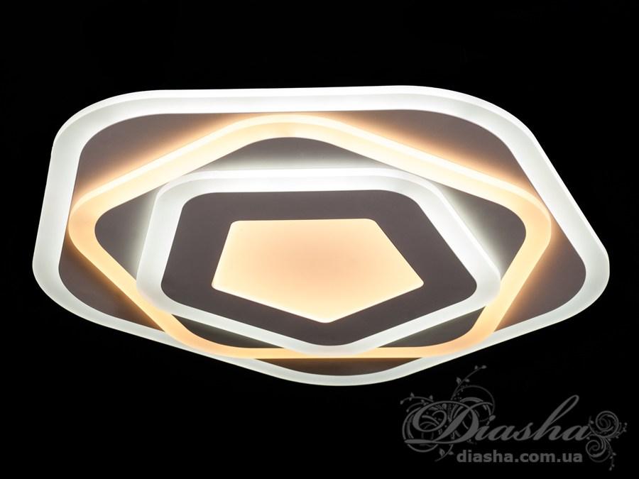Потолочная светодиодная люстра с диммеромПотолочные люстры, Светодиодные люстры, Люстры LED, Потолочные, Новинки