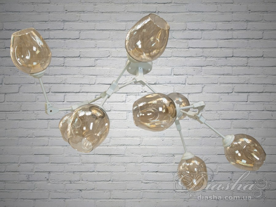 Лаконичный и в тоже время очень стильный дизайн этой люстры на 8 ламп в стиле лофт подойдет для ценителей минимализма и свободы мысли в интерьере.Стиль «Лофт» сейчас очень популярен, его любят как творческие личности, так и весьма практичные люди, предпочитающие комфорт и простоту в интерьере. Люстры в стиле «лофт» идеально впишутся в современные дома, квартиры, кафе, арт-пространства, коворкинги, квеструмы. За счет регулировки шнура можно подобрать оптимальную высоту светильника.Несмотря на похожесть люстры на привычных представителей серии