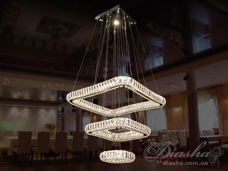 Хрустальная светодиодная люстра-подвес, 100WСветодиодные люстры, Люстры LED, Подвесы LED, Новинки