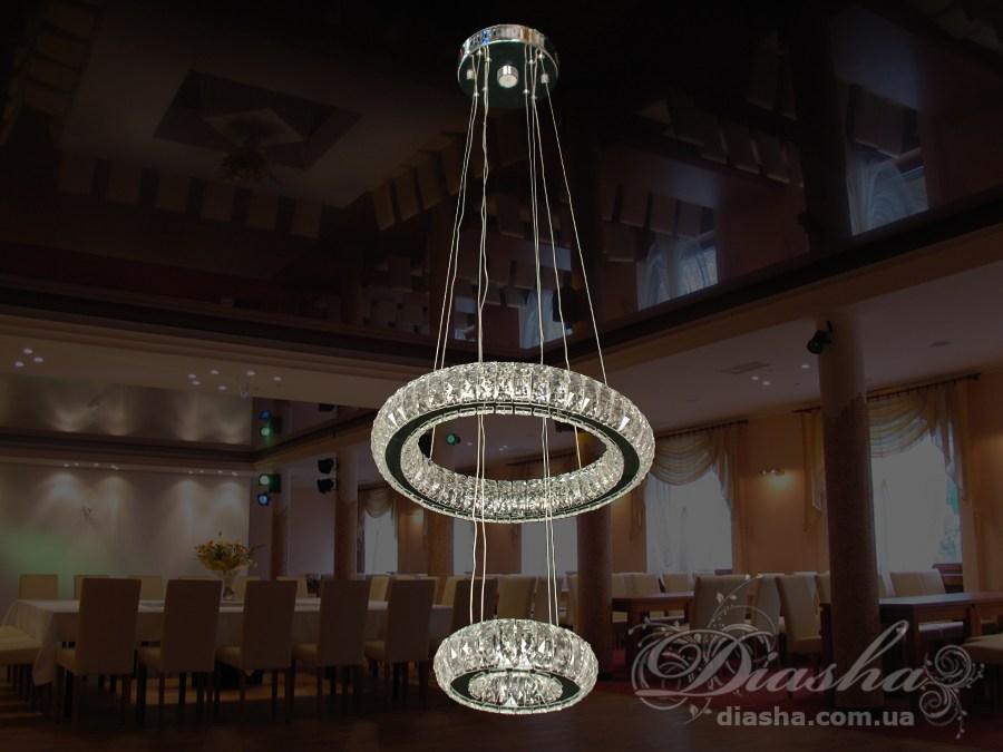 Хрустальная светодиодная люстра-подвес 50WСветодиодные люстры, Люстры LED, Подвесы LED, Новинки