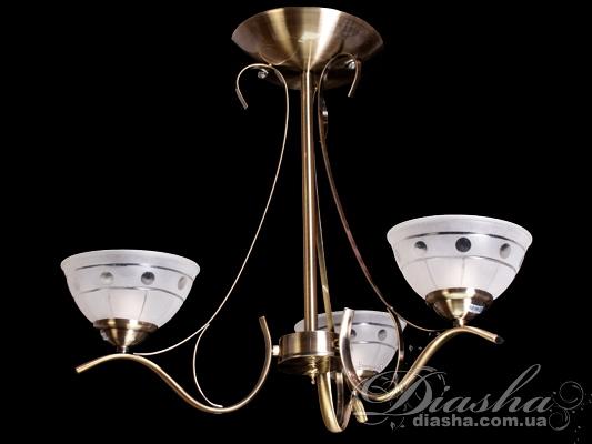 Недорагая классическая люстра на 3 лампыНедорогие люстры, Люстры классика
