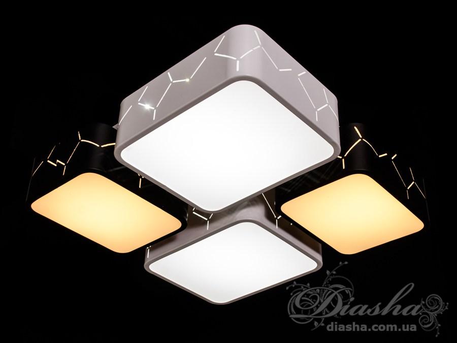 Светильник с регулируемым цветом свечения, 70ВтПотолочные люстры, Светодиодные люстры, светодиодные панели, Люстры LED