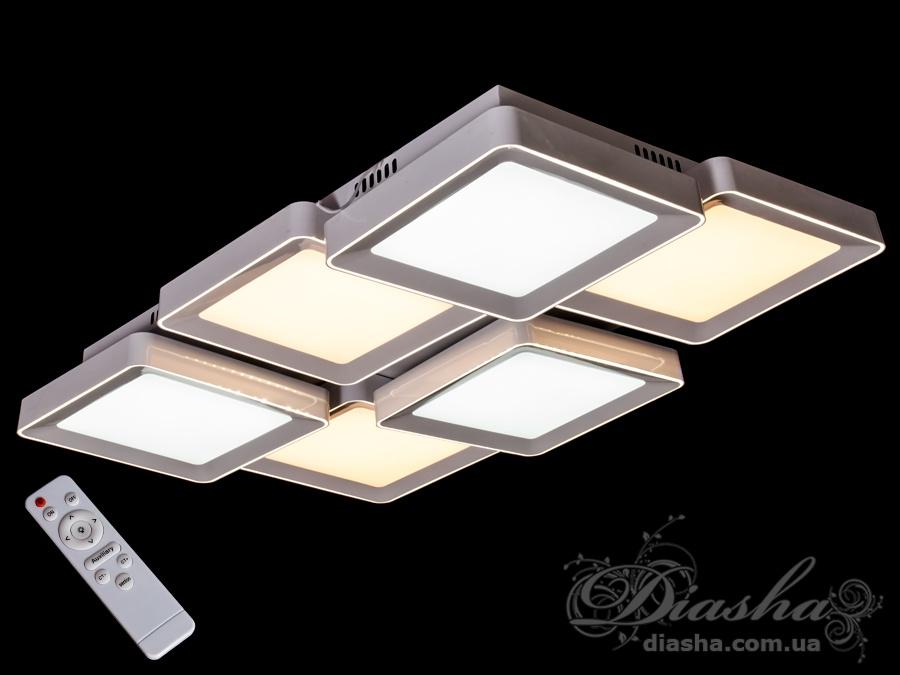 Светильник с регулируемым цветом свечения 180WПотолочные люстры, Светодиодные люстры, светодиодные панели, Люстры LED, Новинки