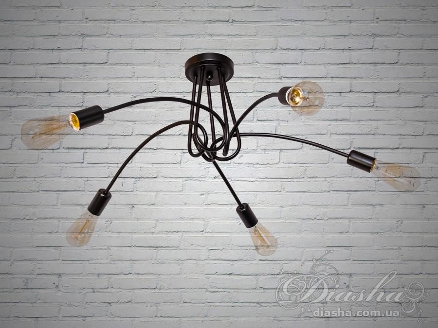 Люстра Loft на 5 лампСветильники
